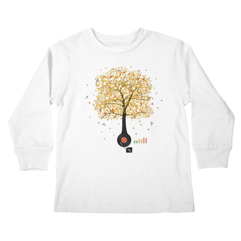Sounds of Nature Kids Longsleeve T-Shirt by DavidBS