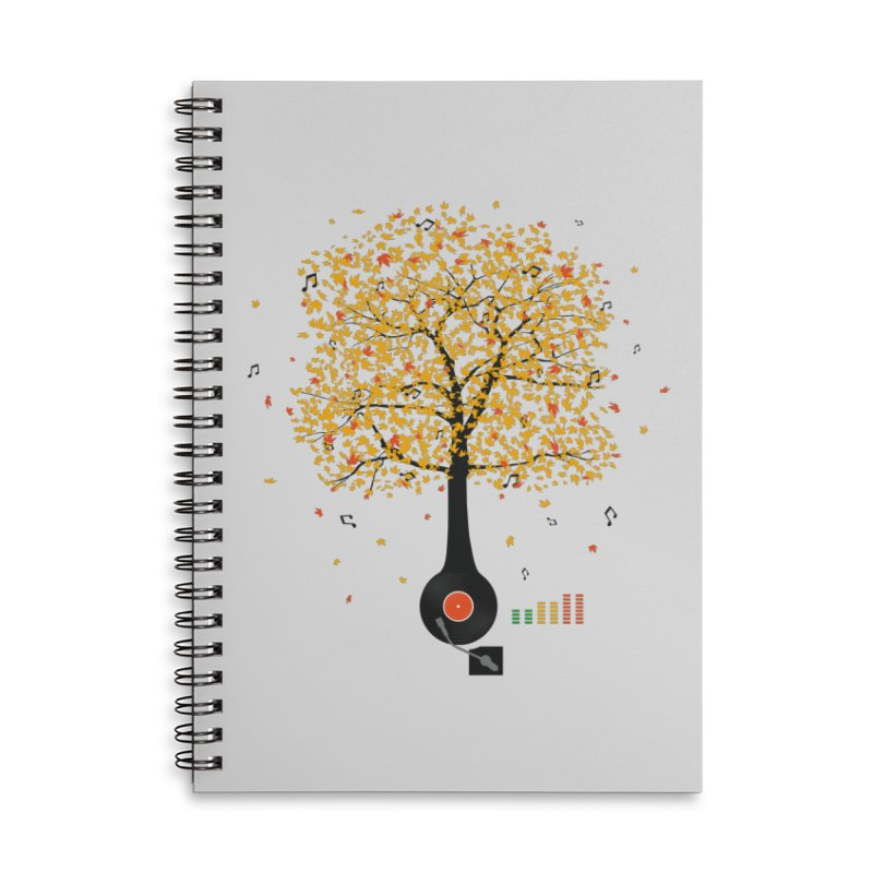 Sounds of Nature Accessories Lined Spiral Notebook by DavidBS