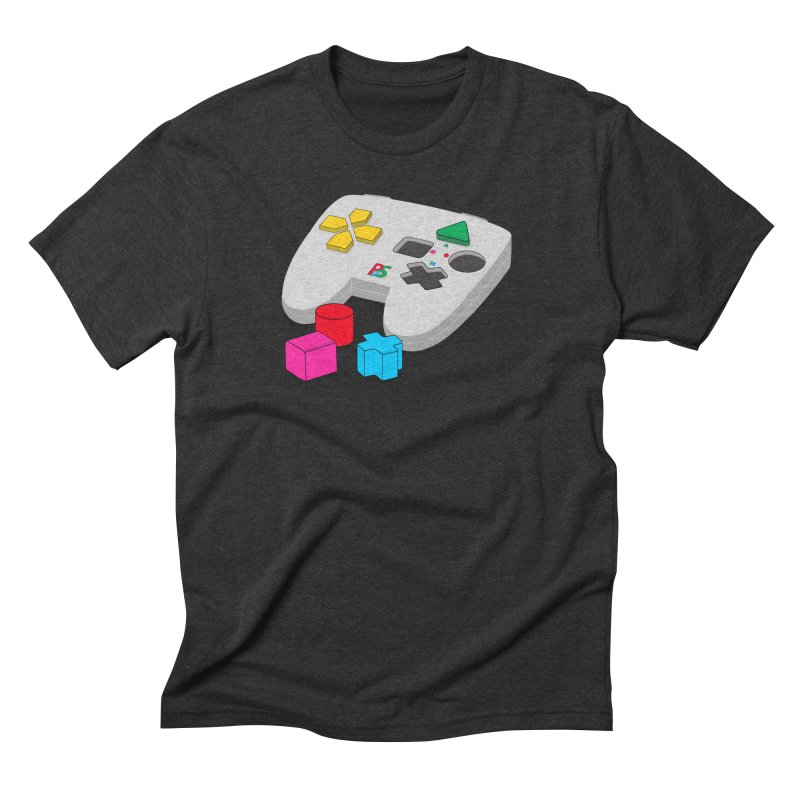 Gamer Since Early Years in Men's Triblend T-Shirt Heather Onyx by DavidBS