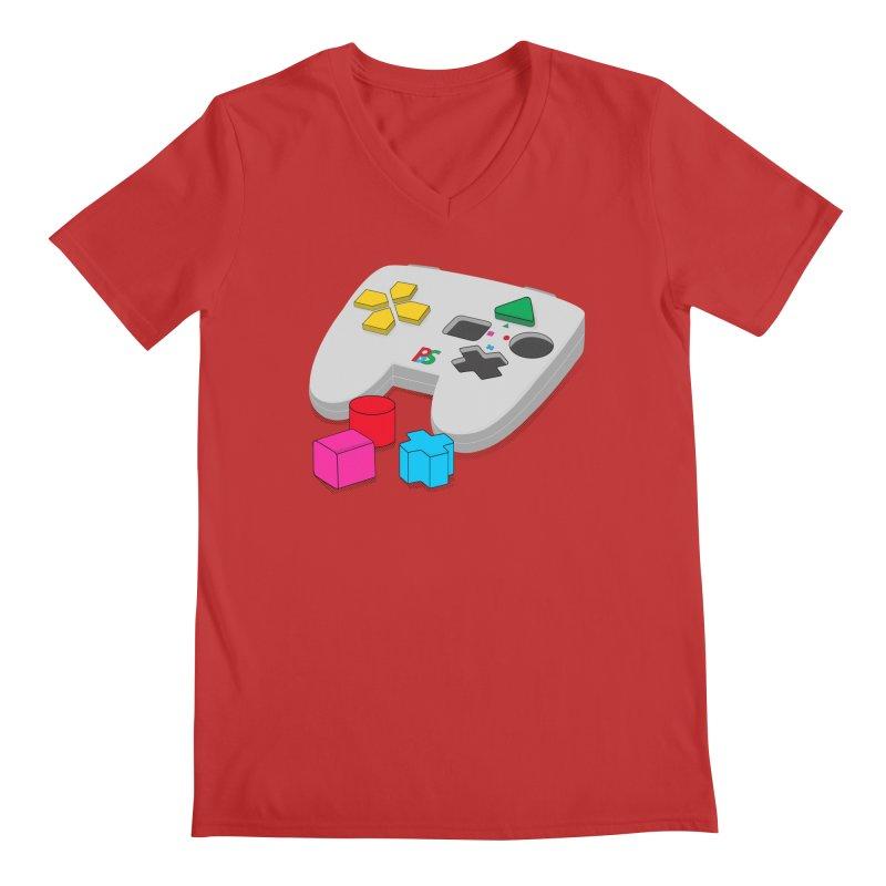 Gamer Since Early Years Men's Regular V-Neck by DavidBS