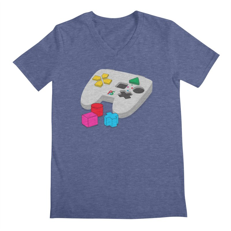 Gamer Since Early Years Men's V-Neck by DavidBS