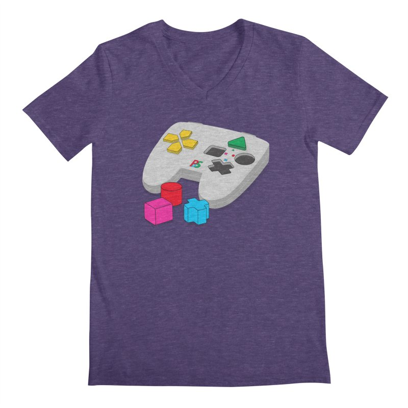 Gamer Since Early Years Men's Regular V-Neck by DavidBS