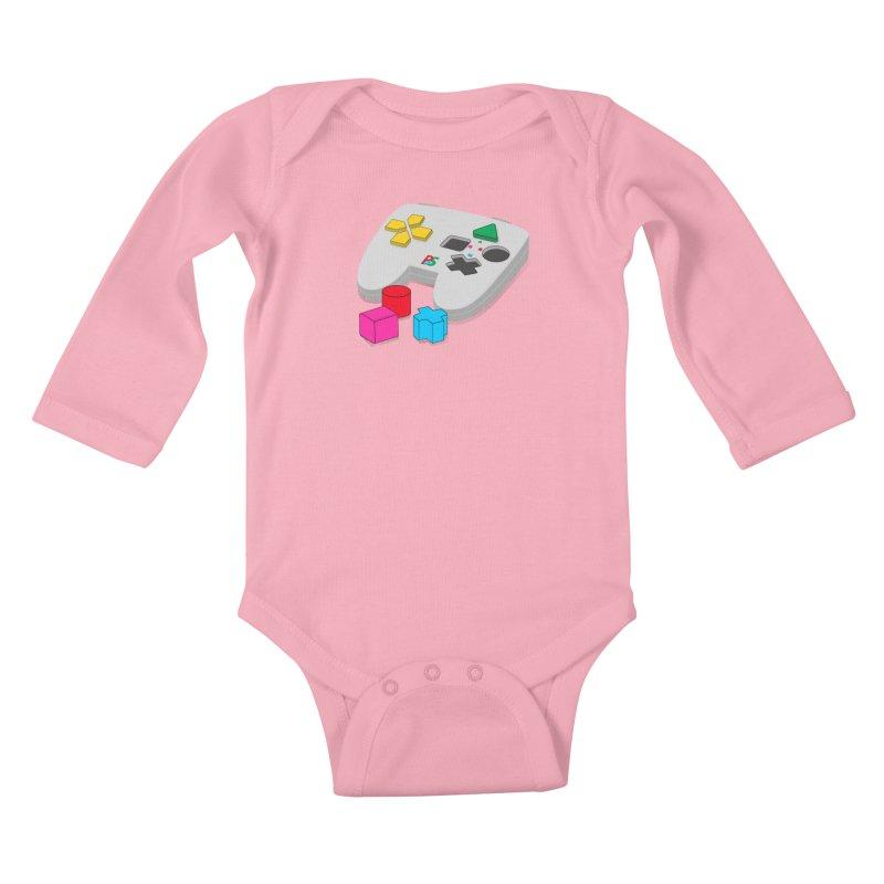 Gamer Since Early Years Kids Baby Longsleeve Bodysuit by DavidBS