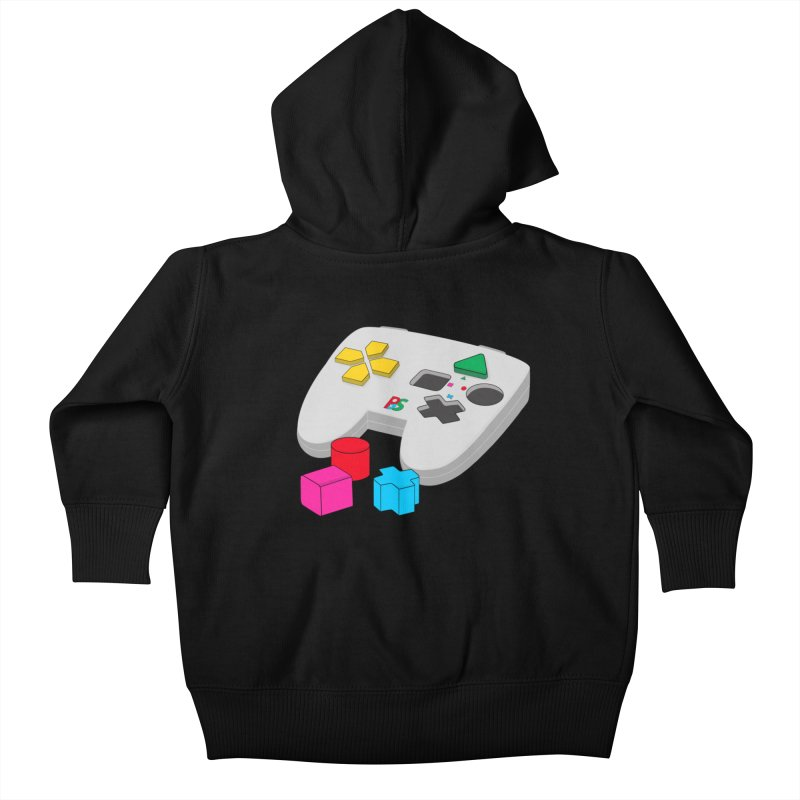 Gamer Since Early Years Kids Baby Zip-Up Hoody by DavidBS