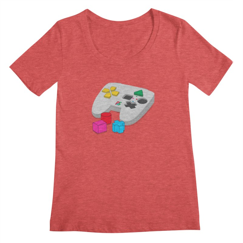 Gamer Since Early Years Women's Scoopneck by DavidBS