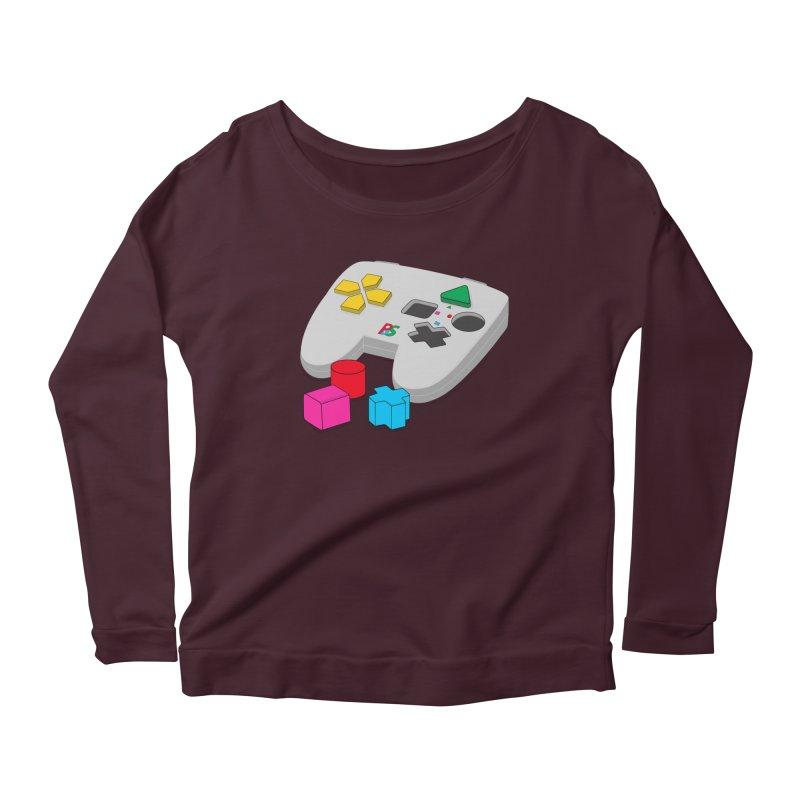 Gamer Since Early Years Women's Longsleeve Scoopneck  by DavidBS