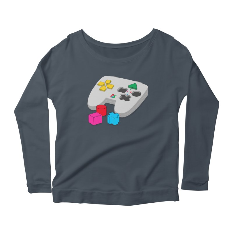 Gamer Since Early Years Women's Scoop Neck Longsleeve T-Shirt by DavidBS