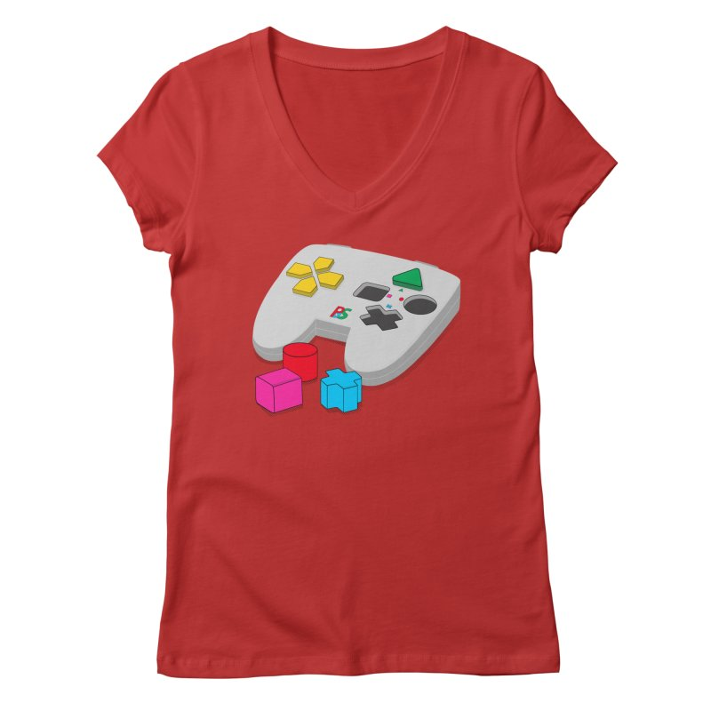 Gamer Since Early Years Women's V-Neck by DavidBS