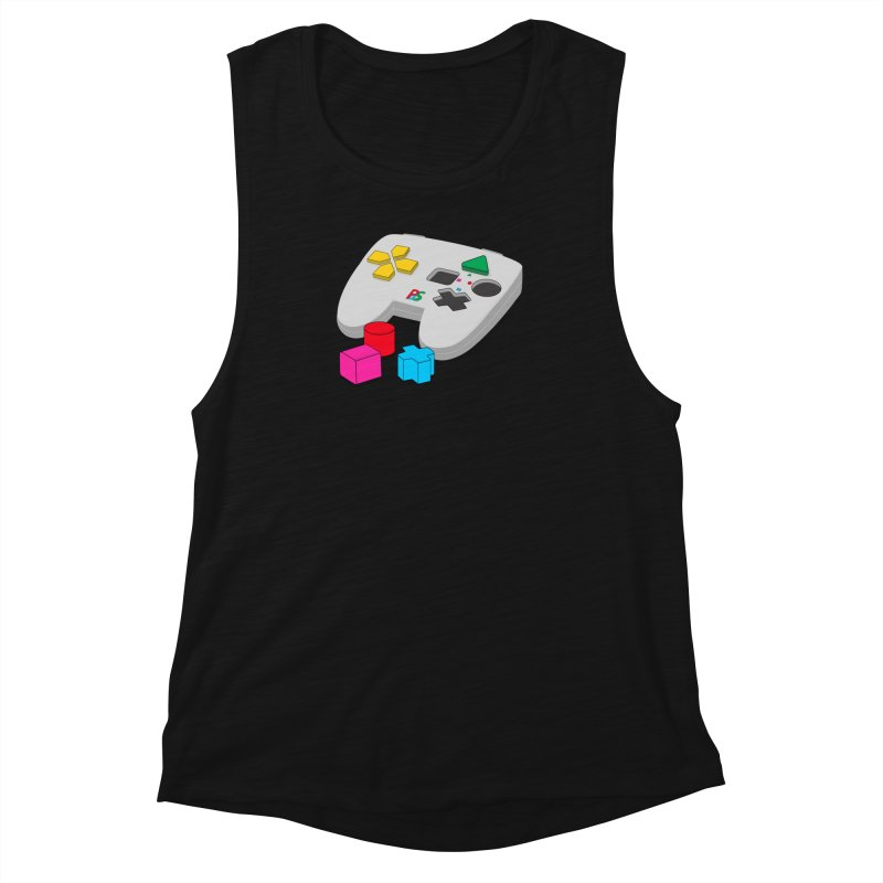 Gamer Since Early Years Women's Muscle Tank by DavidBS