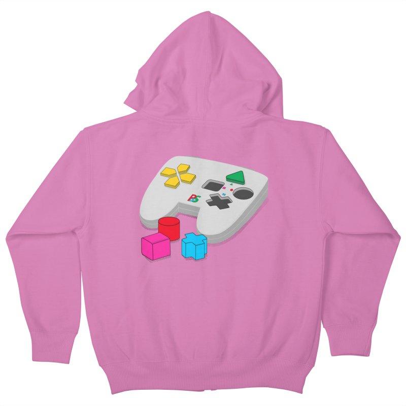 Gamer Since Early Years Kids Zip-Up Hoody by DavidBS