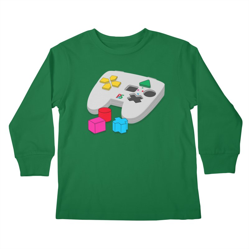 Gamer Since Early Years Kids Longsleeve T-Shirt by DavidBS