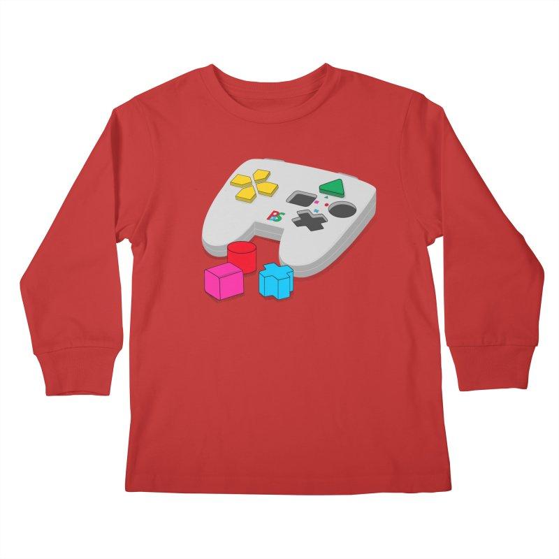 Gamer Since Early Years Kids Longsleeve T-Shirt by DavidBS