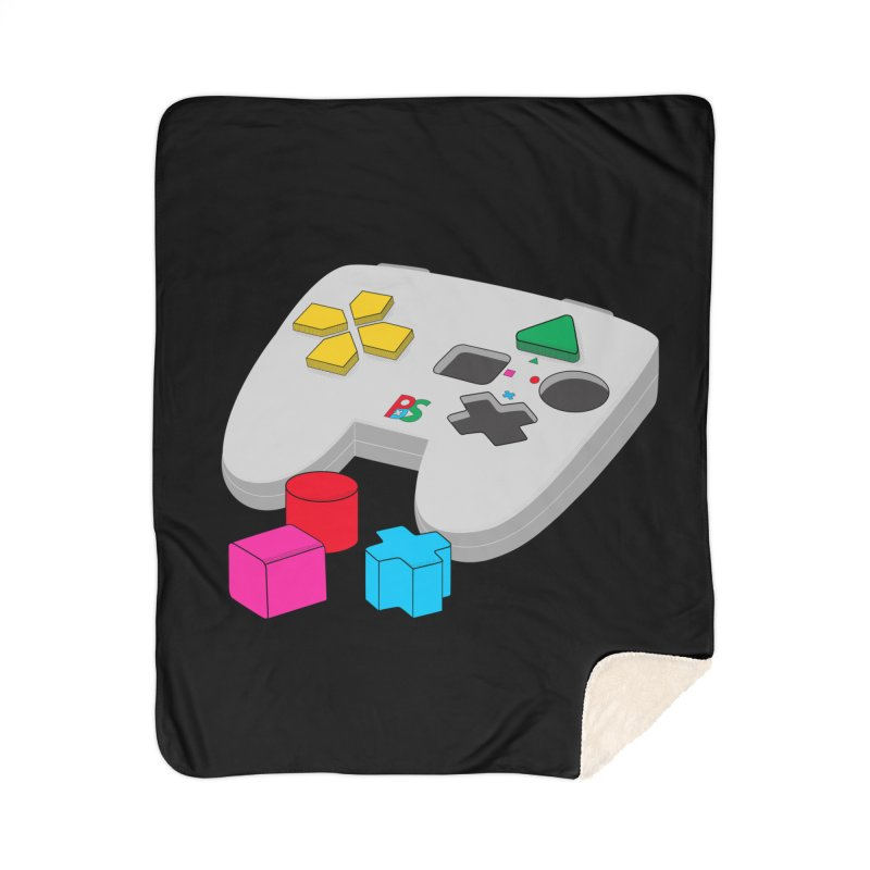 Gamer Since Early Years Home Sherpa Blanket Blanket by DavidBS