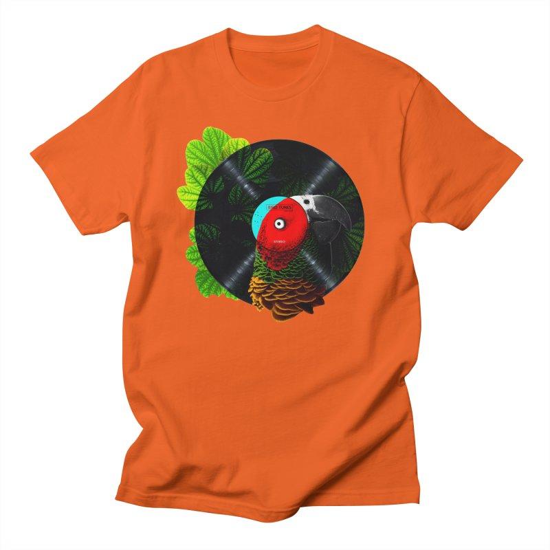 Bird Tunes Men's Regular T-Shirt by DavidBS