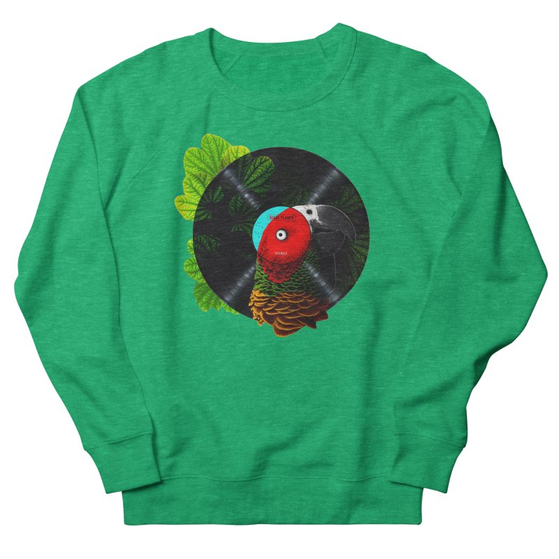 Bird Tunes Men's French Terry Sweatshirt by DavidBS