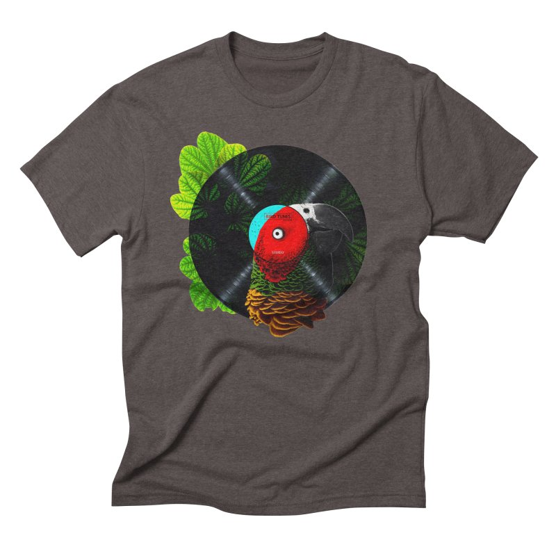 Bird Tunes Men's Triblend T-Shirt by DavidBS