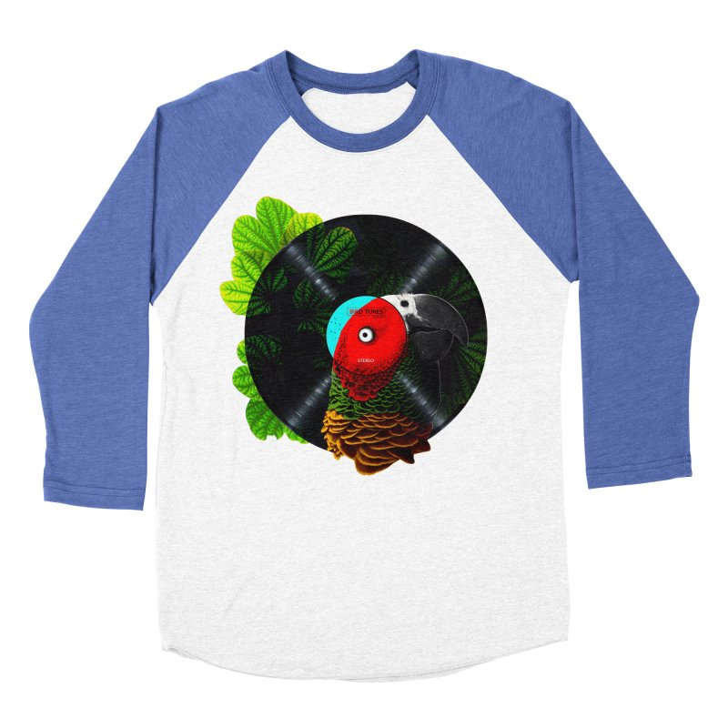 Bird Tunes Women's Baseball Triblend T-Shirt by DavidBS