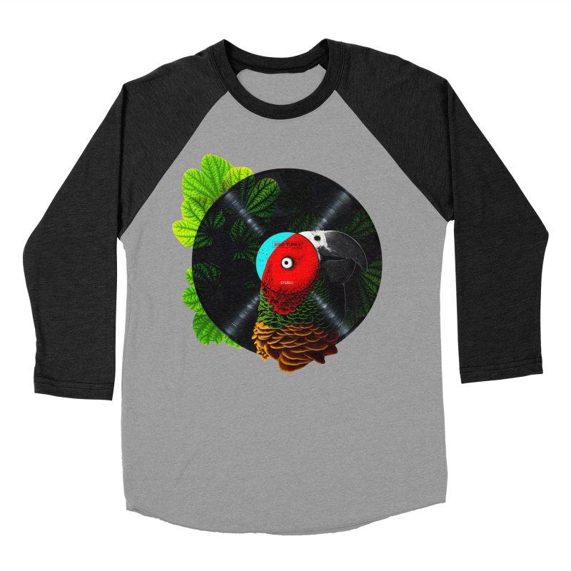 Bird Tunes Men's Baseball Triblend T-Shirt by DavidBS