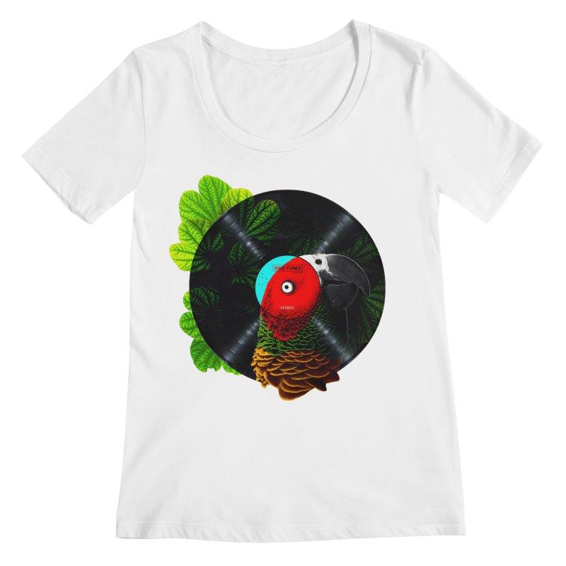 Bird Tunes Women's Regular Scoop Neck by DavidBS