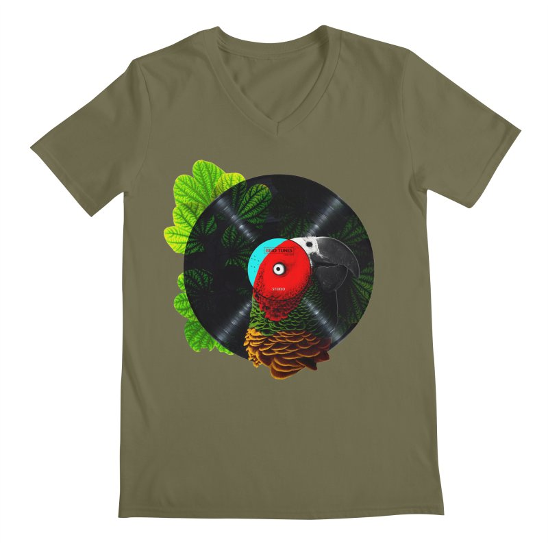 Bird Tunes Men's V-Neck by DavidBS