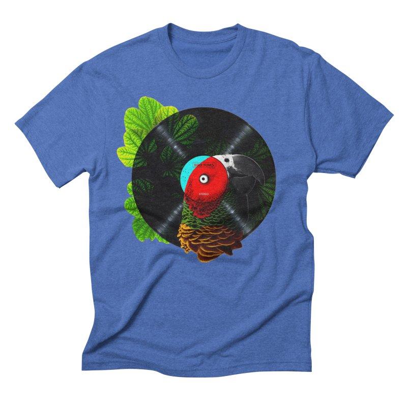 Bird Tunes Men's Triblend T-shirt by DavidBS