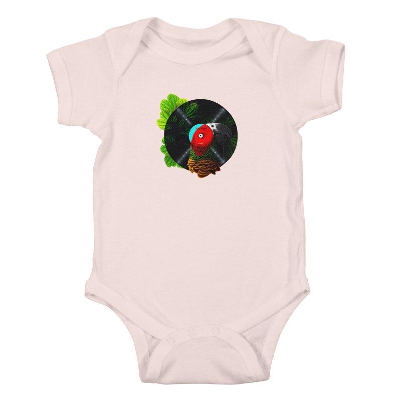 Bird Tunes Kids Baby Bodysuit by DavidBS