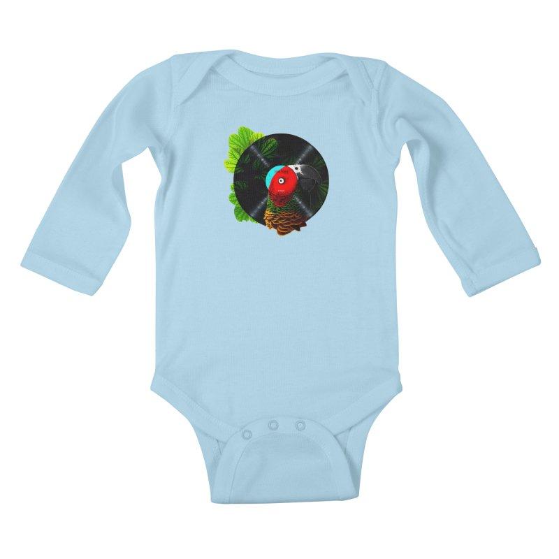 Bird Tunes Kids Baby Longsleeve Bodysuit by DavidBS