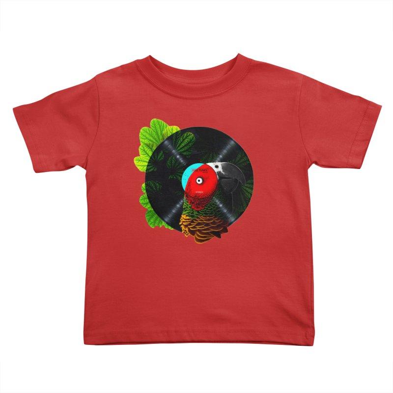 Bird Tunes Kids Toddler T-Shirt by DavidBS