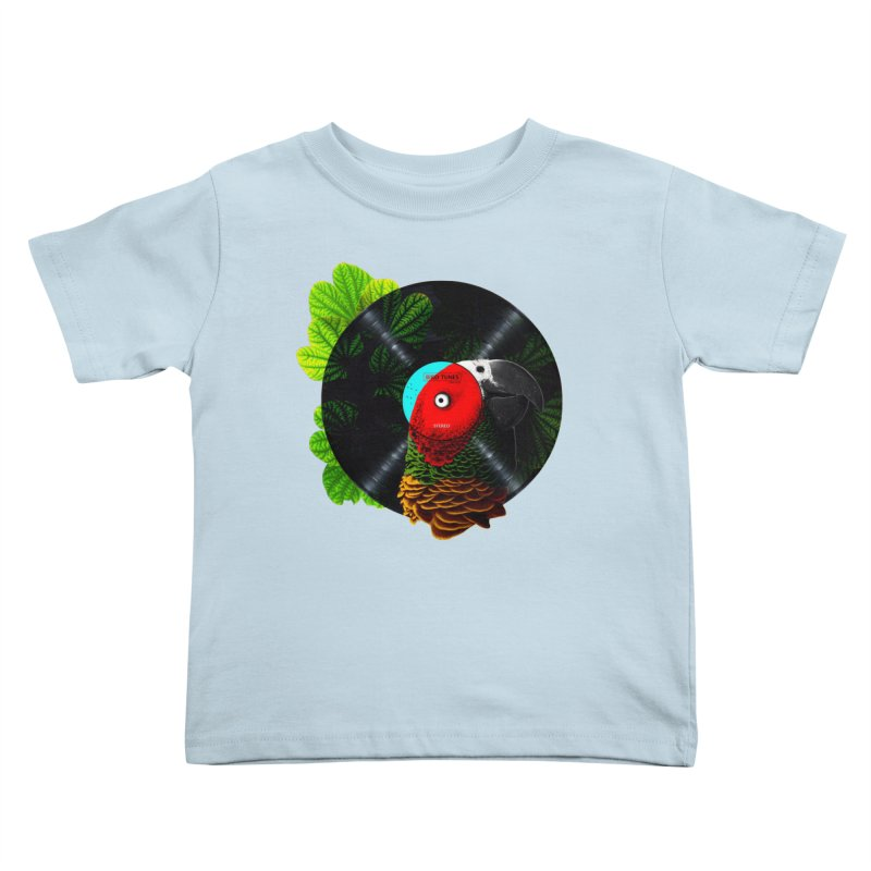 Bird Tunes Kids Toddler T-Shirt by DavidBS
