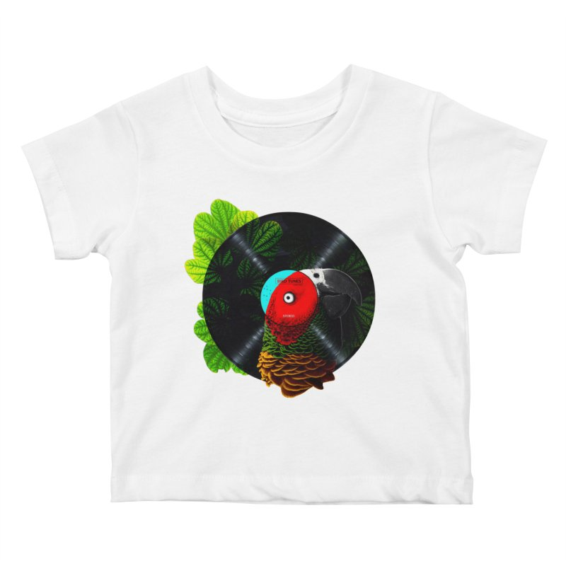 Bird Tunes Kids Baby T-Shirt by DavidBS
