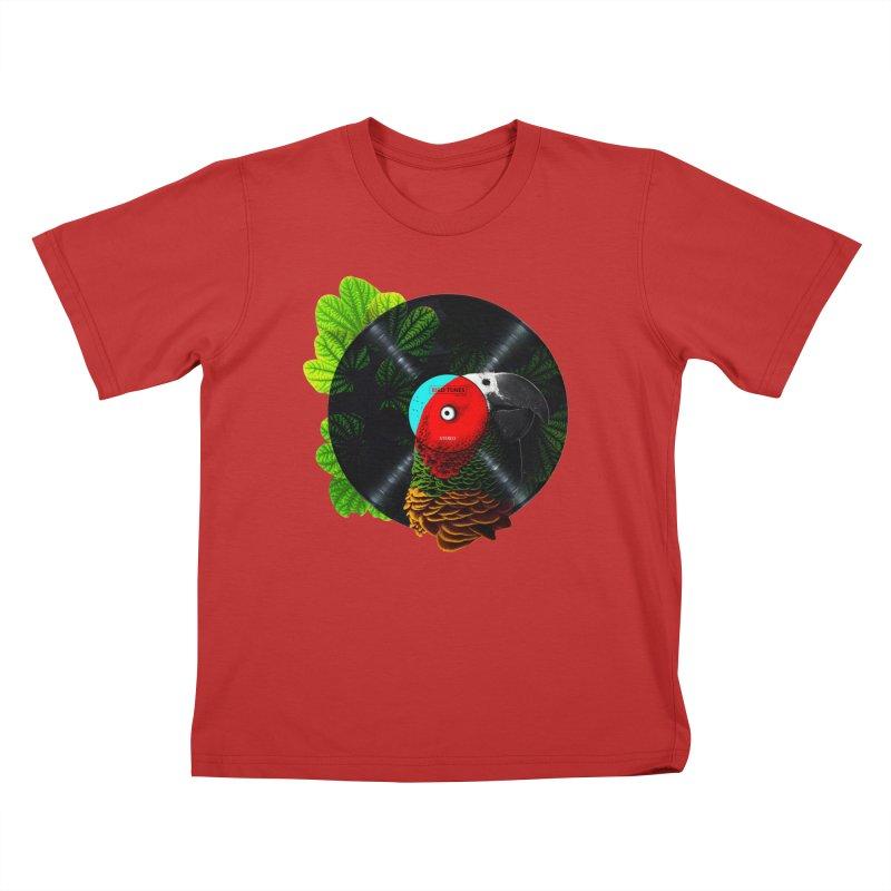 Bird Tunes Kids T-Shirt by DavidBS