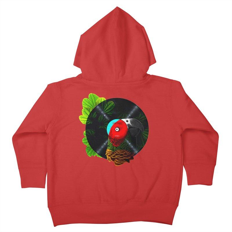 Bird Tunes Kids Toddler Zip-Up Hoody by DavidBS