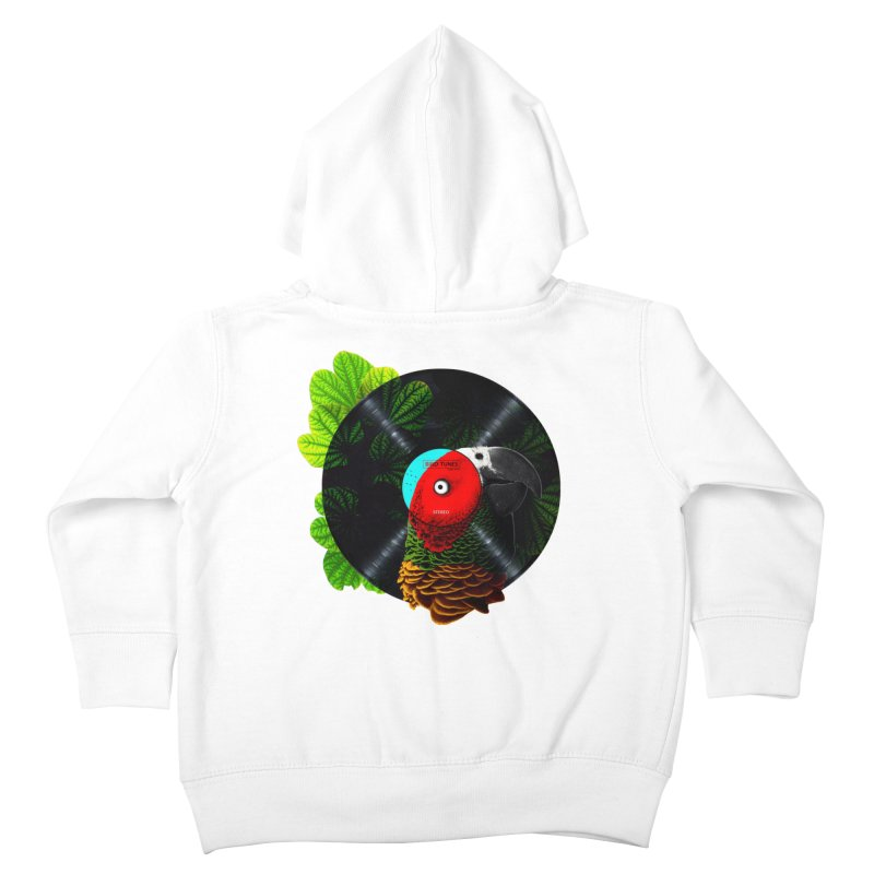 Bird Tunes Kids Toddler Zip-Up Hoody by DavidBS