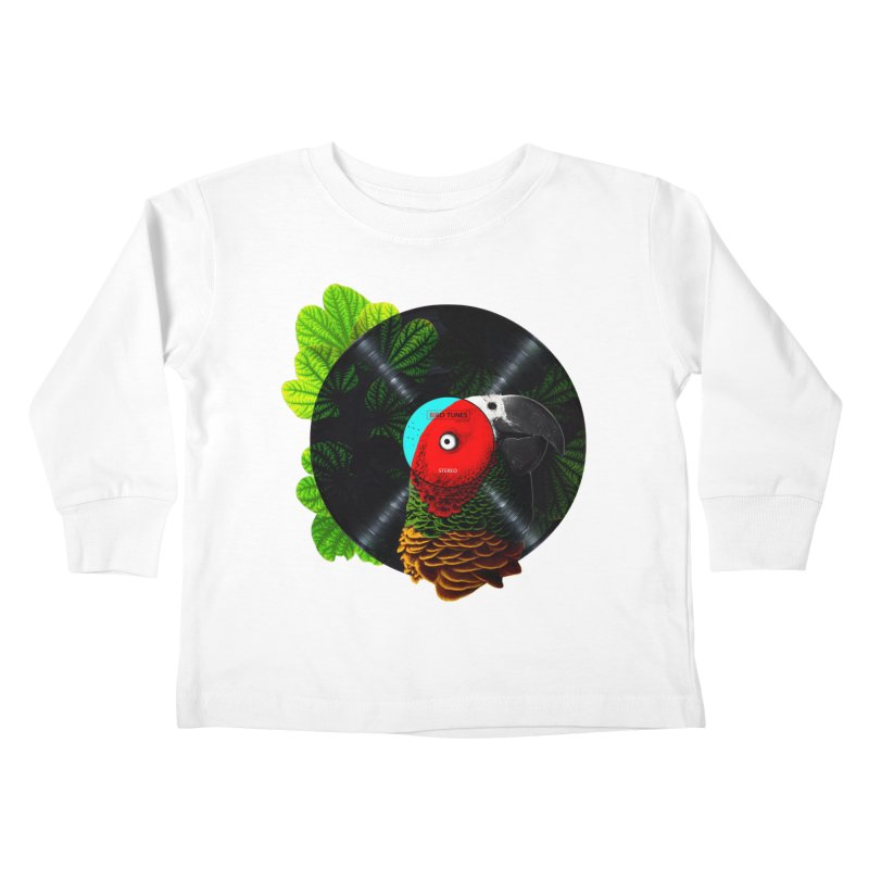 Bird Tunes Kids Toddler Longsleeve T-Shirt by DavidBS