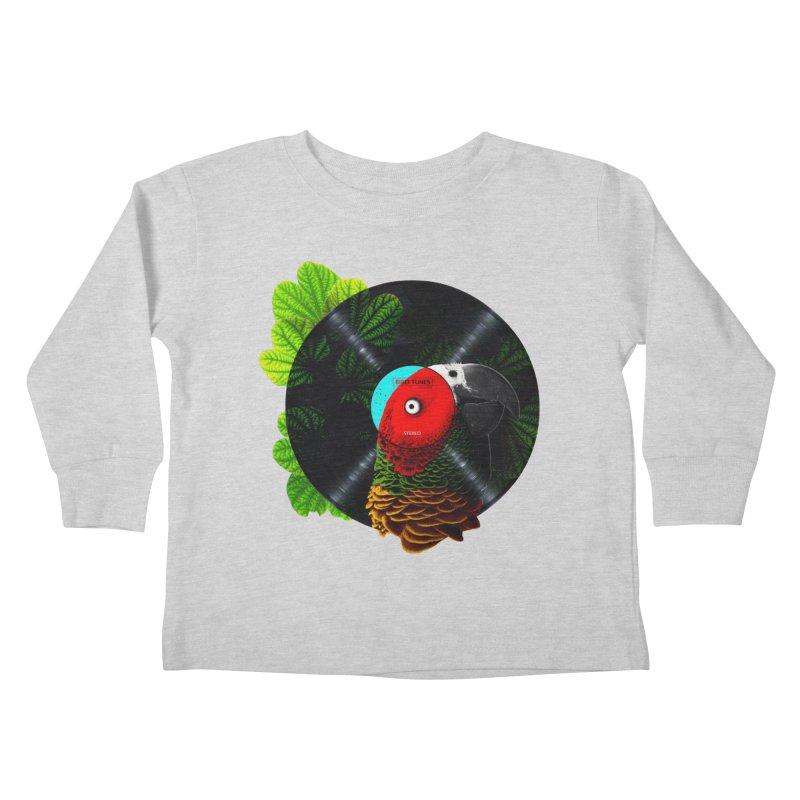 Bird Tunes Kids Toddler Longsleeve T-Shirt by DavidBS
