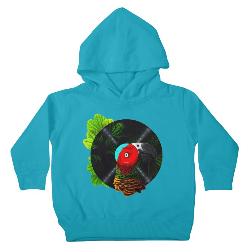 Bird Tunes Kids Toddler Pullover Hoody by DavidBS