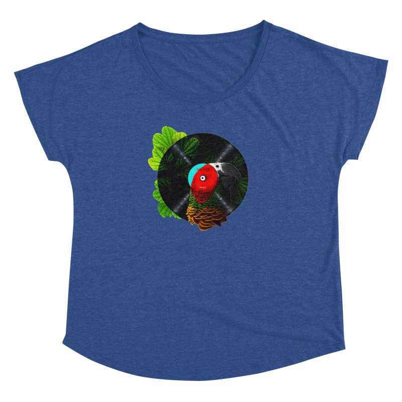 Bird Tunes Women's Dolman Scoop Neck by DavidBS