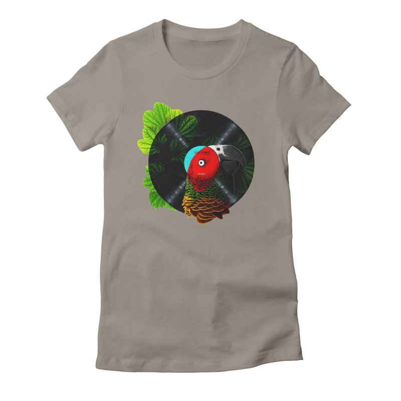 Bird Tunes Women's Fitted T-Shirt by DavidBS