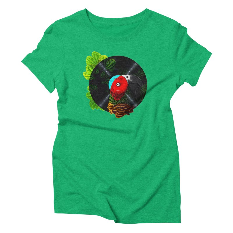 Bird Tunes Women's Triblend T-shirt by DavidBS