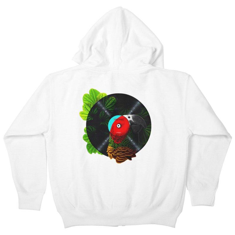 Bird Tunes Kids Zip-Up Hoody by DavidBS