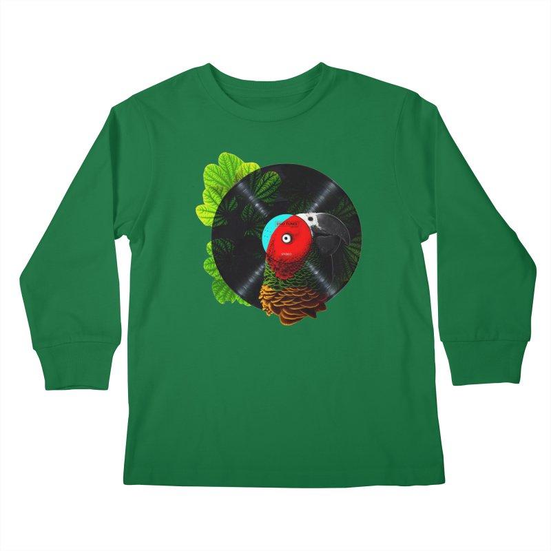 Bird Tunes Kids Longsleeve T-Shirt by DavidBS