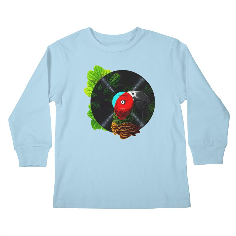 Bird Tunes Kids Longsleeve T-Shirt by DavidBS