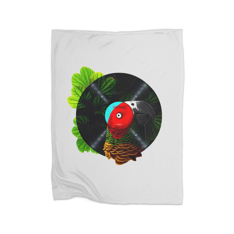 Bird Tunes Home Fleece Blanket Blanket by DavidBS
