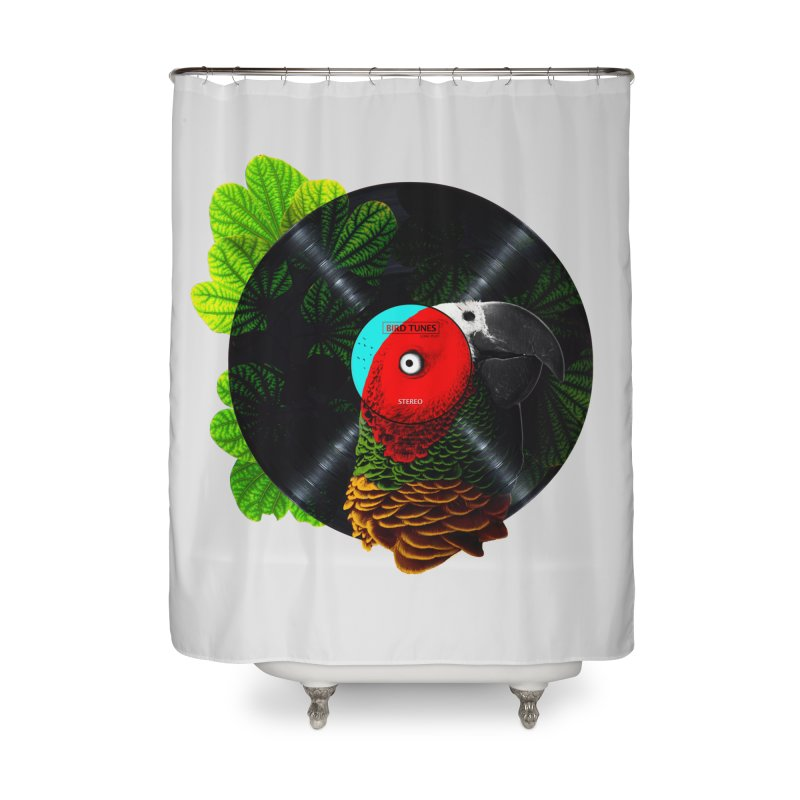 Bird Tunes Home Shower Curtain by DavidBS