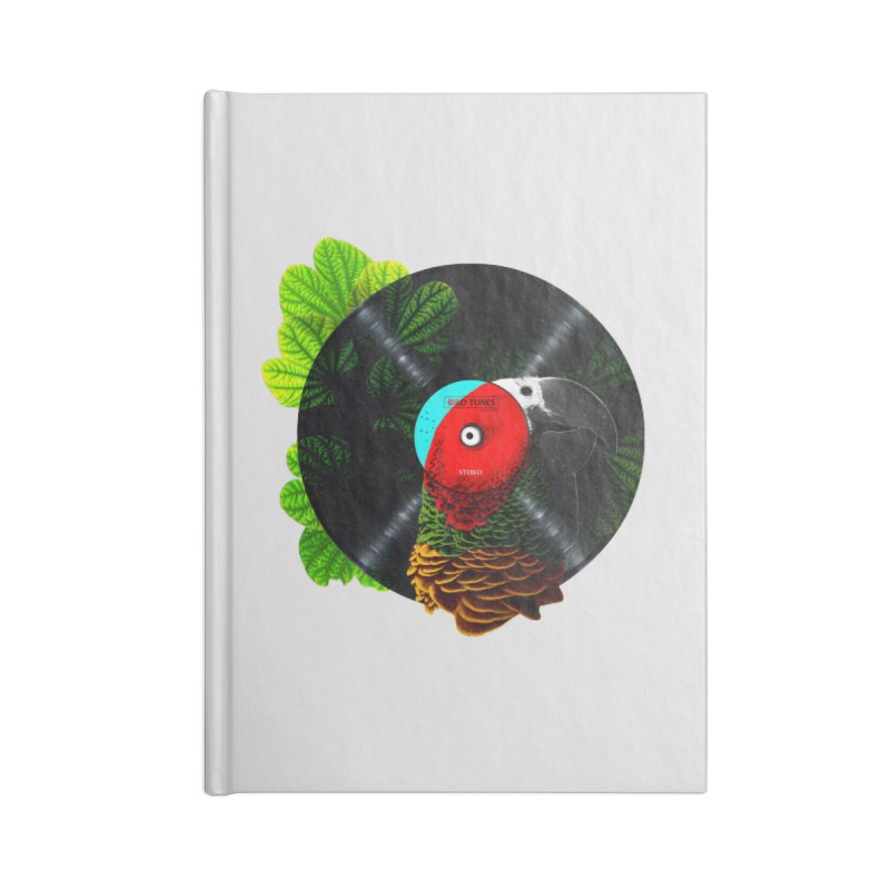 Bird Tunes Accessories Lined Journal Notebook by DavidBS