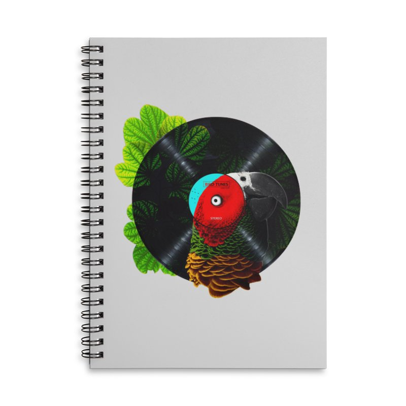 Bird Tunes Accessories Lined Spiral Notebook by DavidBS