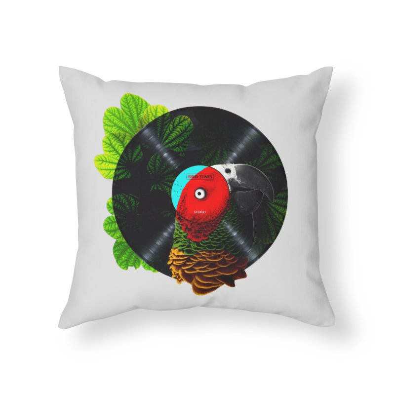 Bird Tunes Home Throw Pillow by DavidBS