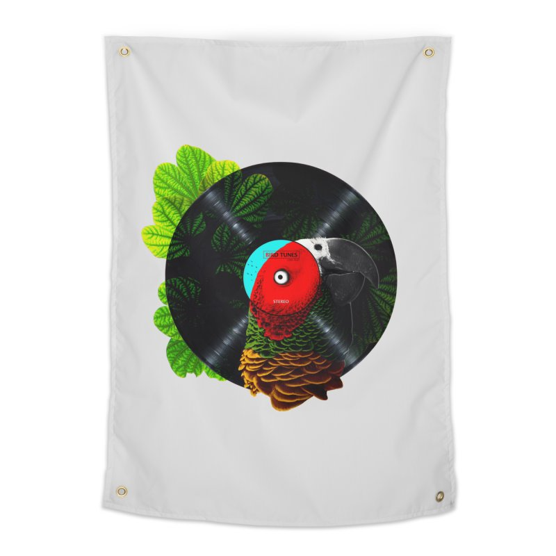 Bird Tunes Home Tapestry by DavidBS