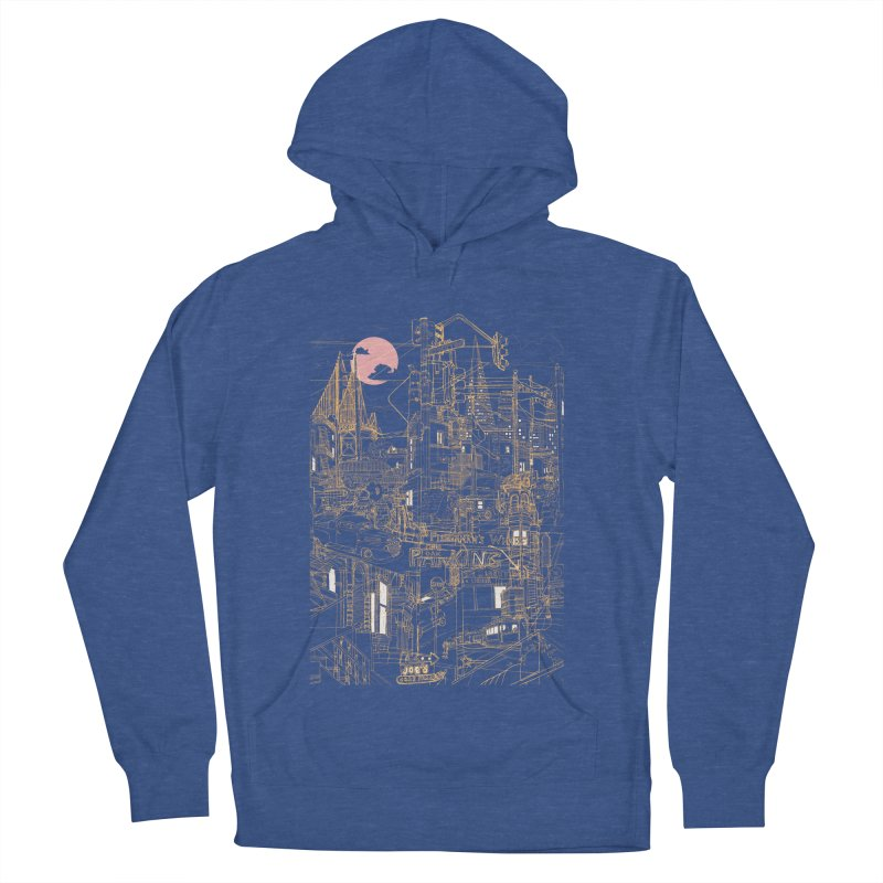 San Francisco! (Night) Women's Pullover Hoody by David Bushell Illustration-Design Shop