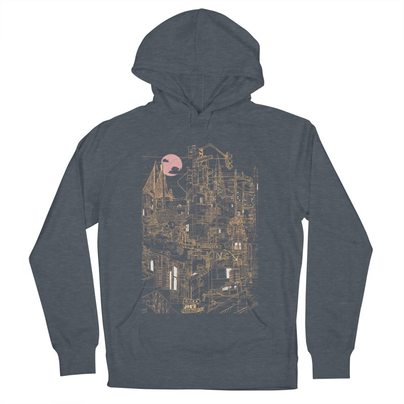 San Francisco! (Night) Men's Pullover Hoody by David Bushell Illustration-Design Shop